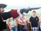 Na plumlovském zámku se utkali šermíři o krásnou Angeliku. Ke slovu však přišly