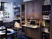 Kdo pracuje doma, měl by mít i v malém bytě možnost svoji 'pracovnu' zavřít.