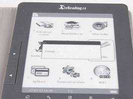 eReading nabízí pěkné grafické menu, i když nemá dotykový displej