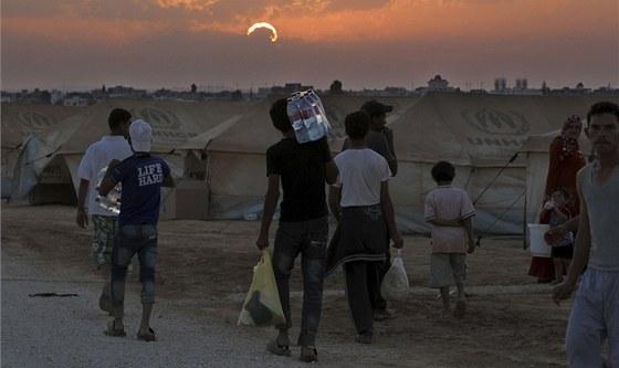 Syr�t� uprchl�ci v Jord�nsku (1. srpna 2012)