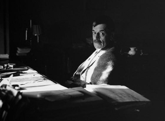 �v�carsk� spisovatel C. F. Ramuz (1878-1947) na sn�mku z roku 1935