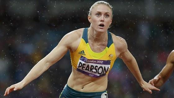 ZA ZLATEM. Australsk� sprinterka Sally Pearsonov� p�d� do c�le, kde ji �ek�