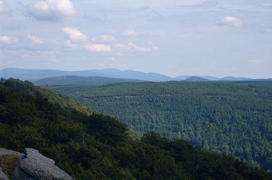 Pohled z Paličníku na západní Krkonoše