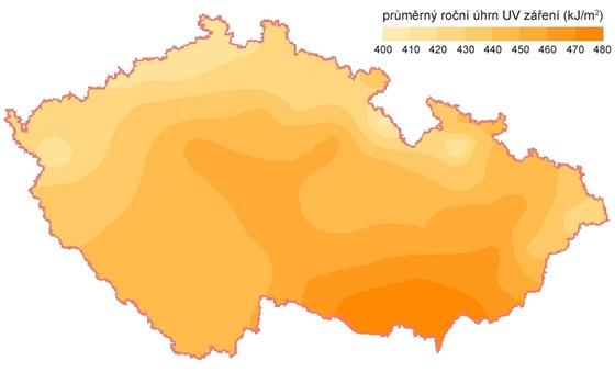 Pr�m�rn� ro�n� d�vky UV z��en� na �zem� �R  1964 � 2008
