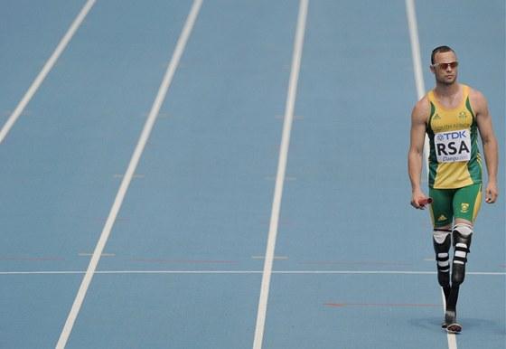 Pistorius před štafetou na 4x400 metrů na mistrovství světa v J. Koreji v