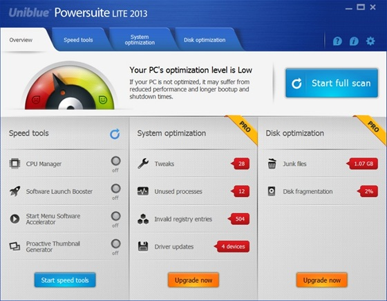 Uniblue PowerSuite Lite 2013