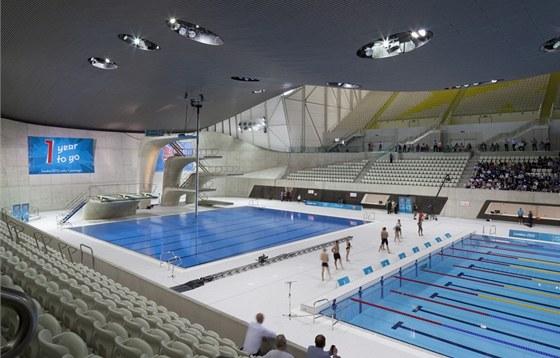 London Aquatics Centre - kapacita hlediště se po olympiádě sníží na 2 500