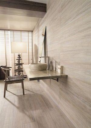 Dřevěná koupelna zkeramických obkladů a dlažeb série Orsa znabídky Los