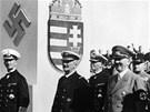 Nacistick� v�dce Adolf Hitler a admir�l Mikl�s Horthy(druh� zleva), kter� v