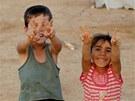 Syrsk� d�ti v jord�nsk�m uprchl�ck�m t�bo�e Z�tar� (2. srpna 2012)