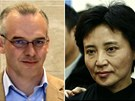 Zleva: Někdejší šéf komunistické strany v Čhung-čchingu Po Si-laj, britský