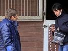Pavla Váňová s Josefem při natáčení dokumentu Váňa
