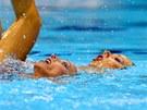 �esk� akvabely Al�b�ta Dufkov� (vpravo) a So�a Bernardov� p�i olympijsk�