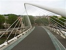 Most Zubizuri od katalánského architekta Santiaga Calatravy