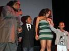 Stevie Wonder s manželkou a dětmi
