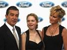 Antonio Banderas s manželkou Melanií Griffithovou a jejich dcerou Stellou