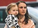 Natalie Portmanov� se synem Alephem