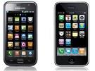 Prostředí Samsungu Galaxy S se nápadně podobá rozhraní iPhonu.