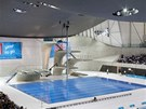 London Aquatics Centre - unikátní je řešení skokanské věže.