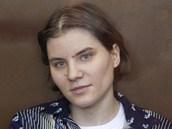 �lenka d�v�� kapely Pussy Riot Jekat�rina Samucevi�ov� u soudu v Moskv� (4.