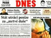 Tituln� strana MF DNES ze 7. srpna 2002