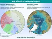 infografika - Boj o hranice na severním pólu