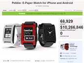 Nejúspěšnějším na Kickstarter.com je zatím kalifornský projekt Pebble. Hodinky...