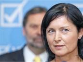 Tisková konference VV během které strana představila kandidáty do krajských
