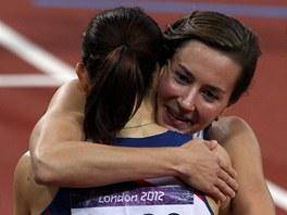 GRATULACE. Denisa Rosolová doběhla v olympijském finále sedmá a hned běžela