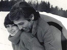Ivo Pavlík s Věrou Špinarovou v roce 1977.