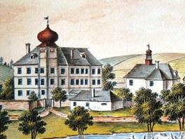 Podoba zámku v Adršpachu ze začátku 19. století.