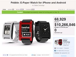 Nejúspěšnějším projektem na Kickstarter.com je zatím kalifornský projekt Pebble