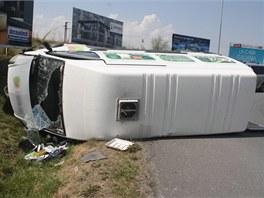 Řidič se čtyřmi promile alkoholu nezvládl na kruhovém objezdu u olomouckého