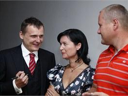 Tisková konference Věcí veřejných, během které strana představila kandidáty do