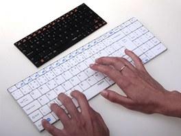 Rozdíl ve velikosti bezdrátových klávesnicRapoo.