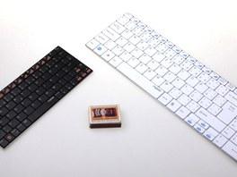 Srovnání velikostí bezdrátových klávesnic Rapoo.