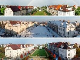 Výhled na park a Pražský hrad v průběhu roku