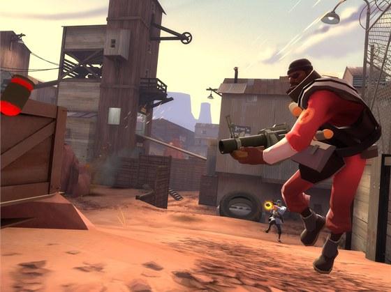 Grafika Team Fortress 2 je výjimečná i přehledná.