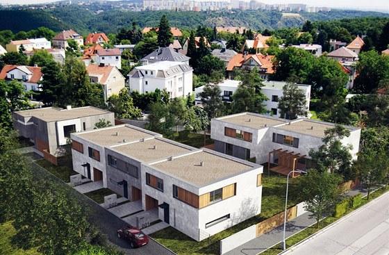 Rodinn� domy v Praze 6 - Suchdole navr�en� pro developera od Qarta architektura