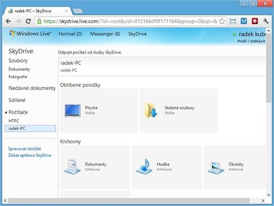 Klientská aplikace k úložišti SkyDrive umí zpřístupnit kompletní obsah počítače