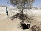Jeden z tunel�, kter� vedou pod hranic� mezi Egyptem a p�smem Gazy (10. srpna