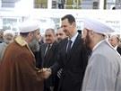 Syrsk� prezident Ba��r Asad se po m�s�ci objevil na ve�ejnosti v r�mci modliteb...