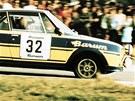 Leo Pavl�k se �kodou na Barum rallye v roce 1977.