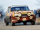 Leo Pavl�k s renaultem na Rallye �umava v roce 1983.