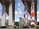 Proměna pilířů Nuselského mostu