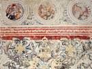 Část fresek, které objevili dělníci při rekonstrukci prostějovského zámku.