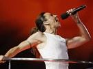 Mel C ze Spice Girls na závěrečném ceremoniálu olympiády (12. srpna 2012)