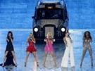 Spice Girls na závěrečném ceremoniálu olympiády (12. srpna 2012)