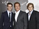 Arnold Schwarzenegger a jeho synov� Patrick a Christopher