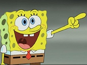 Mořská houba ze seriálu Spongebob v kalhotách